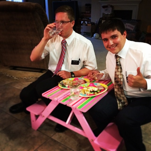 Had the #Missionaries over for #EasterDinner. It was nice.