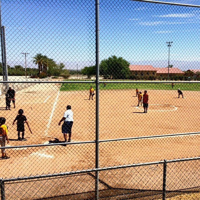 Hard day at work today! Photos for a youth softball game. :)