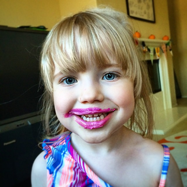 Look who else found her sisters makeup!